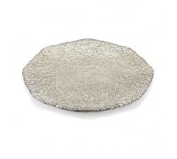 Diamante-Beige-Chrome-Talerz 37-cm-ivv