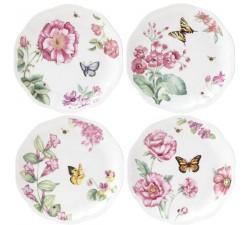 Komplet-4-talerzy-Butterfly-Meadow-Bloom-lenox
