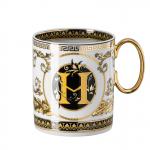 Rosenthal-Versace-Virtus-Alphabet-kubek-porcelanowy-H