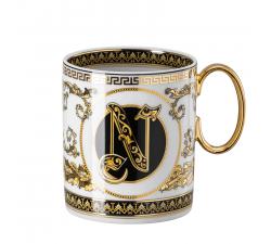 Rosenthal-Versace-Virtus-Alphabet-kubek-porcelanowy-N