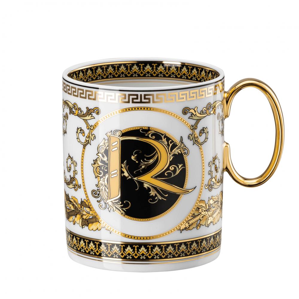 Rosenthal-Versace-Virtus-Alphabet-kubek-porcelanowy-R