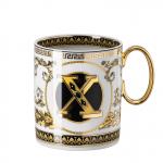 Rosenthal-Versace-Virtus-Alphabet-kubek-porcelanowy-X