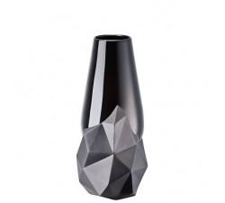Wazon-27-cm-Geode-Czarny-Rosenthal-tył