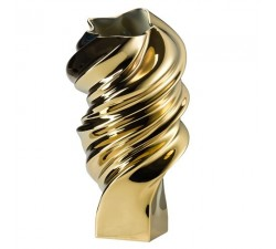 Wazon-Squall-złoty-32-cm-Rosenthal-bok