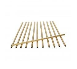 Słomki-stalowe-złote-proste -zestaw-12-szt-Sambionet