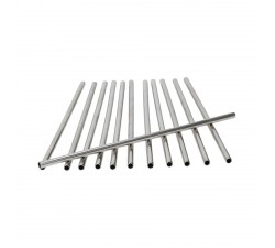 Słomki-stalowe-srebrne-proste-zestaw-12 szt-sambonet