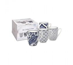 Zestaw-4-kubków -porcelanowych-Mój-kolor-to-niebieski-Konitz
