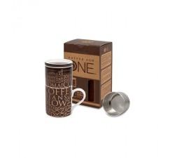 Kubek do zaparzania kawy brązowy