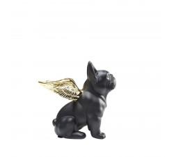 Pies siedzący ze skrzydłami