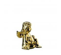 Anioł średni z sercem Złoty