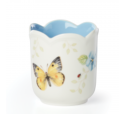 Świecznik-9,5-cm-niebieski-Butterfly-Meadow-Lenox