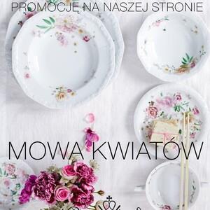 Kontynuujemy Kwiatową Promocję!  Drugi produkt z kolekcji Kwiatowych za 50%! https://porcelanaonline.pl/  Maria Róża Maria Flowers Maria Bukiet Letni Tajemniczy Ogród Alpejski Ogród Sanssouci Ramona  Jade Magnolia